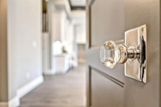 Glass Door knob by Clark and Co. Homes