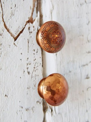 Copper knobs by Nordic House