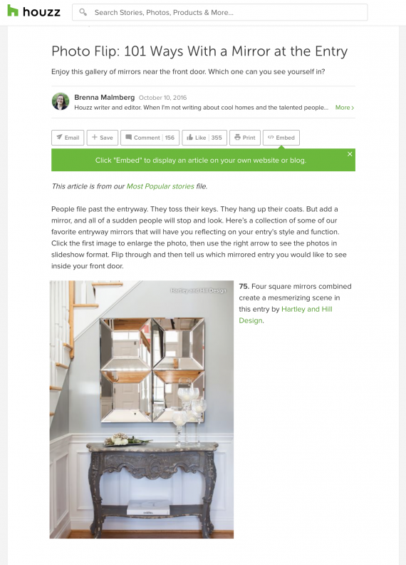Hartley and Hill Design featured on HOUZZ